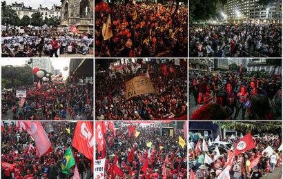 manifestazioni contro golpe in brasile