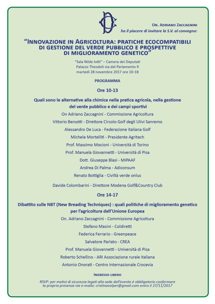 28 Novembre: Convegno pubblico sulle New Breeding Techniques