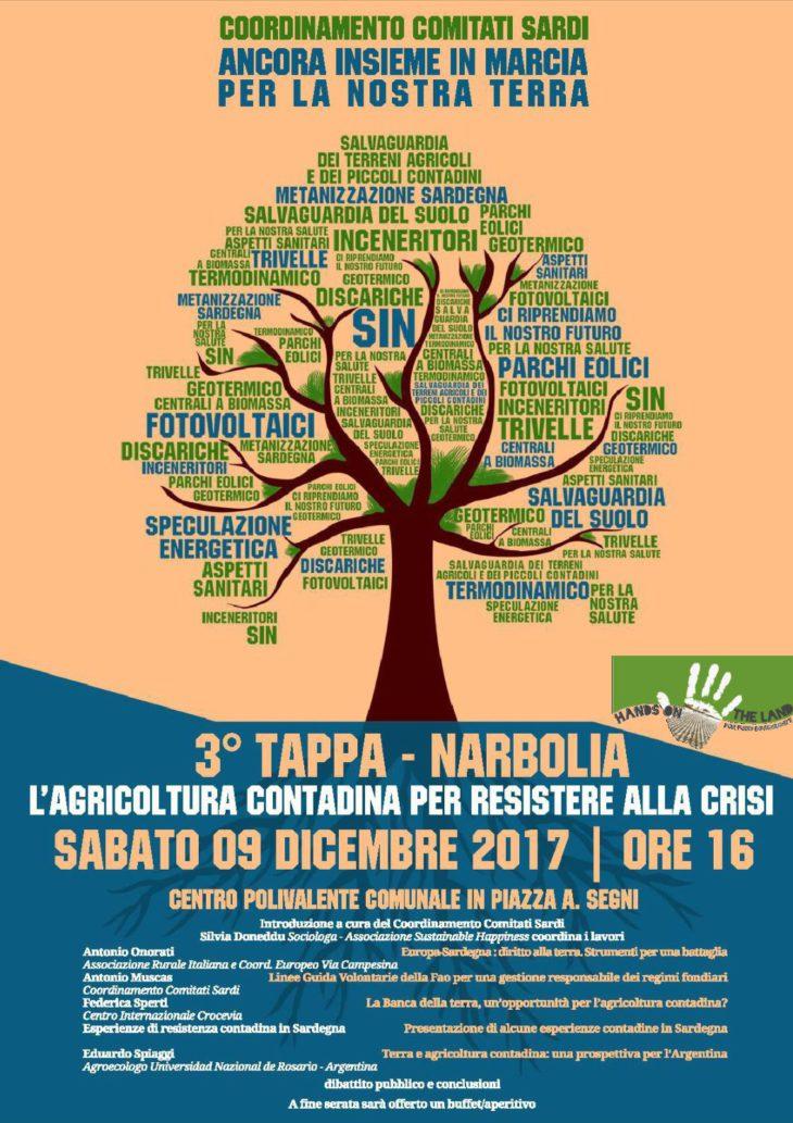 3° Evento della Marcia per la Terra - Narbolia, 9 dicembre 2017