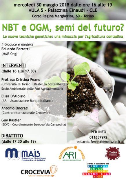 Nbt e Ogm, Semi Del Futuro? Incontro pubblico a Torino